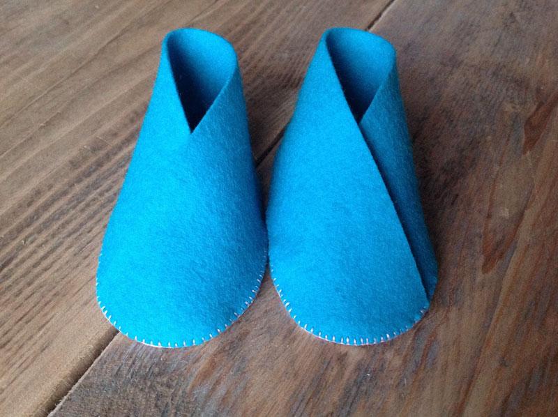 Blauwe babyschoentjes