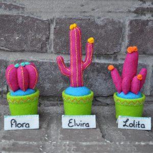 Patroonboekje cactus viltproject Flora, Elvira & Lolita