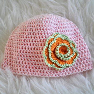 Babbyboo Newborn mutsje haakpatroon roze