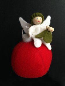 Kerstengeltje met maretak viltpakket