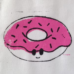 Babyromper met donutprint